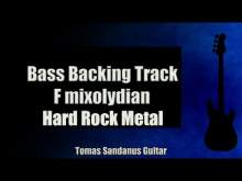 Embedded thumbnail for Bass Backing Track F mixolydian - Hard Rock Metal - NO BASS