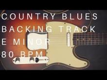 Embedded thumbnail for Blues Country Guitar Backing Track | E Minor (80 Bpm)