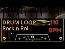 Embedded thumbnail for ROCK N ROLL - DRUM LOOP 110 BPM (Backing Track Bateria)