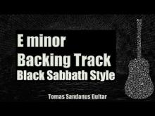 Embedded thumbnail for Paranoid Style Backing Track in E minor - Black Sabbath Heavy Metal Guitar Backtrack