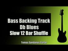 Embedded thumbnail for Bass Backing Track | Db Blues | Slow 12 bar Shuffle | NO BASS | Chords | Scale | BPM