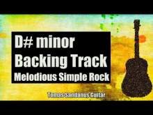Embedded thumbnail for D# minor Backing Track - D#m - D sharp - Melodious Simple Rock Guitar Jam Backtrack