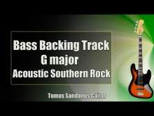 Embedded thumbnail for Bass Backing Track G major - Acoustic Southern Rock - NO BASS