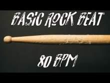 Embedded thumbnail for Basic rock beat free 80 bpm