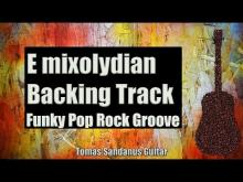 Embedded thumbnail for E Mixolydian Backing Track - Funky Pop Rock Groove Guitar Backtrack - Chords - Scale - BPM