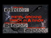 Embedded thumbnail for Nice Metal Backing Track in A minor