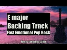 Embedded thumbnail for Backing Track Rock Pop E major - Fast Emotional Clean Guitar Backtrack - Chord - Scale - BPM
