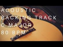 Embedded thumbnail for Acoustic Guitar Backing Track | C Major (80 Bpm)