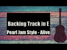 Embedded thumbnail for Pearl Jam Style Backing Track in E - Grunge Rock Alive Guitar Backtrack - Chords  Scale  BPM