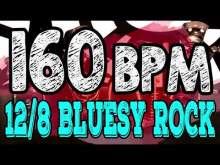 Embedded thumbnail for 160 BPM - Blues Rock Shuffle #1  - 12/8 Drum Track - Metronome - Drum Beat