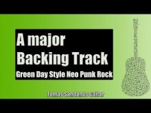 Embedded thumbnail for Guitar Jam Track Backing in A Major | Green Day Style Neo Punk Rock