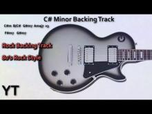 Embedded thumbnail for C# Minor Guitar Backing Track 80s Rock Ballad