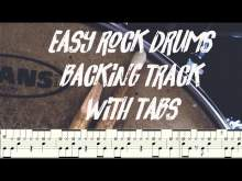 Embedded thumbnail for Rock drums backing track 98