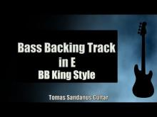 Embedded thumbnail for Bass Backing Track in E - BB King Style Blues - NO BASS - Chords - Scale - BPM