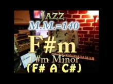 Embedded thumbnail for F#m Minor (F# A C#) - Jazz - M.M.=140 - One Chord Backing Track