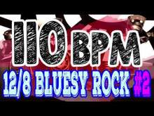 Embedded thumbnail for 110 BPM - Blues Rock Shuffle #2 - 12/8 Drum Track - Metronome - Drum Beat