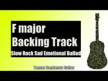 Embedded thumbnail for Backing Track in F Major Slow Rock Style with Chords and F Major Pentatonic Scale