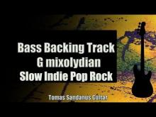 Embedded thumbnail for Bass Backing Track G mixolydian - Slow Indie Pop Rock - NO BASS - Chords - Scale - BPM