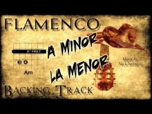 Embedded thumbnail for Flamenco Rumba Spanish Backing Track Am G F E (fast)