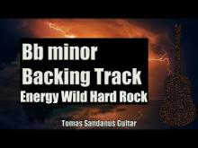 Embedded thumbnail for B flat minor backing track | Bb | Energy Wild Hard Rock Guitar Backtrack | Chords | Scale | BPM