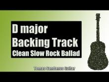 Embedded thumbnail for Backing Track in D Major Pop Rock Ballad with Chords and D Major Pentatonic Scale