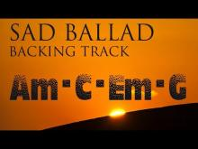 Embedded thumbnail for Sad Slow Instrumental Guitar Ballad Backing Track A minor