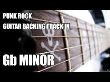 Embedded thumbnail for Punk Rock Guitar Backing Track In Gb Minor / A Major