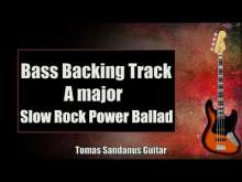 Embedded thumbnail for Bass Backing Track A major - Slow Rock Power Ballad - NO BASS