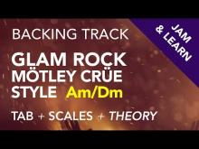 Embedded thumbnail for 80's Glam Rock Mötley Crüe Style Backing Track in Am/Dm