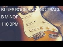 Embedded thumbnail for Blues Rock Guitar Backing Track | B Minor (110 Bpm)