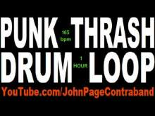 Embedded thumbnail for HOUR LONG Fast Punk Thrash Drum Loop Beat Drums Only 165 bpm