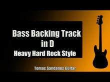 Embedded thumbnail for Bass Backing Track in D | Heavy Hard Rock Style | NO BASS | Chords | Scale | BPM