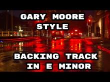 Embedded thumbnail for Gary Moore Style Backing Track in E Minor