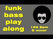 Embedded thumbnail for bass play along Funk - 126 Bpm B minor - backing track disco