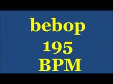 Embedded thumbnail for Drum Loops for Practice Bebop 195bpm