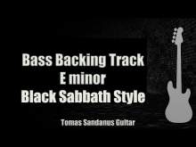 Embedded thumbnail for Bass Backing Track E minor - Paranoid - Black Sabbath style - NO BASS