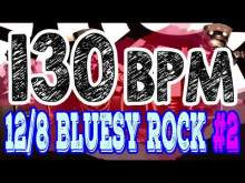 Embedded thumbnail for 130 BPM - Blues Rock Shuffle #2 - 12/8 Drum Track - Metronome - Drum Beat