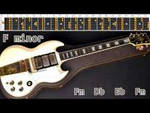 Embedded thumbnail for Provocative Rock Ballad Style Guitar Backing Track - F minor | 120 bpm