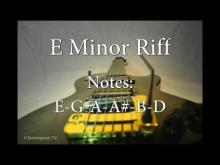Embedded thumbnail for Riff Rock Guitar Backing Track in E Minor