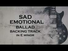 Embedded thumbnail for Sad emotional ballad backing track in Eminor