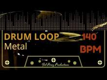 Embedded thumbnail for METAL - DRUM LOOP 140 BPM (Backing Track Bateria)