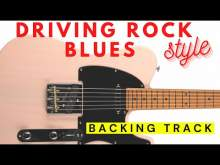 Embedded thumbnail for Driving Blues Rock Guitar Backing Track Jam in C# minor