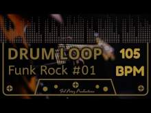 Embedded thumbnail for FUNK ROCK #01 - DRUM LOOP 105 BPM (Backing Track Bateria)
