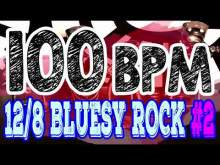 Embedded thumbnail for 100 BPM - Blues Rock Shuffle #2 - 12/8 Drum Track - Metronome - Drum Beat