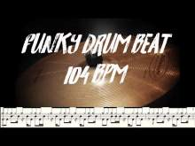 Embedded thumbnail for Funk drum beat 104 bpm