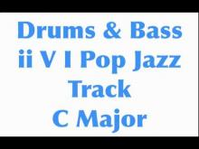Embedded thumbnail for ii V I Pop Rock Jazz Drums & Bass Rhythm Track in C Major 110 BPM