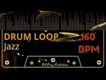 Embedded thumbnail for Jazz - Free Drum Loop 160 BPM (Backing Track Bateria)