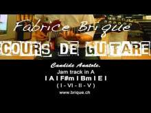 Embedded thumbnail for Jam Track en A, 110bpm - Candide Anatole