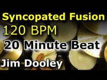 Embedded thumbnail for Drums Only Backing Track - Syncopated Fusion 120 BPM Drum Loop Excerpt