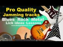 Embedded thumbnail for Pro Quality - Gm Blues rock Shuffle with space for the Dorian Mode